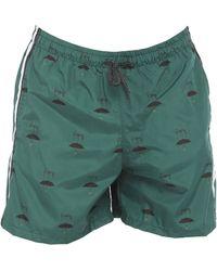 Grey Daniele Alessandrini Swim Trunks - Green