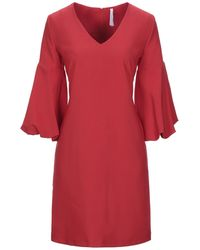 Imperial Short Dress - Red