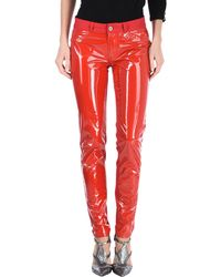 Just Cavalli Casual Pants - Red