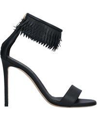 Grey Mer Sandals - Black