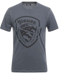 Blauer T-shirt - Grey