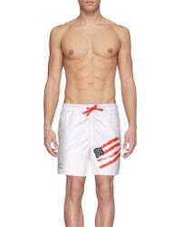 EA7 Short de bain - Blanc