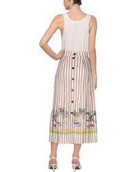 Erika Cavallini Semi Couture Midi Skirt - Multicolour