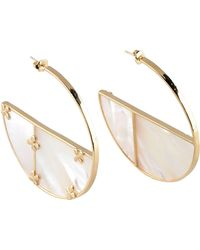 Aurelie Bidermann - Bianca 18kt Gold Plated Earrings With Mother Of Pearl - Lyst