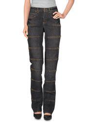 Angelo Marani Pantalon en jean - Noir
