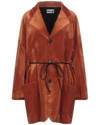 Hache Overcoat - Red