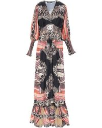 W Les Femmes By Babylon Long Dress - Multicolor