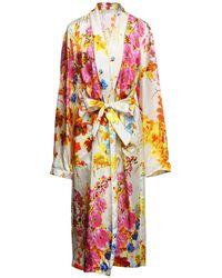 Dries Van Noten Overcoat - Multicolor