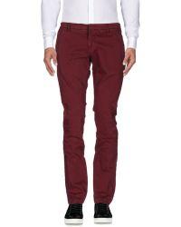 Michael Coal Casual Trouser - Red