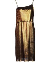 Cedric Charlier Midi Dress - Metallic