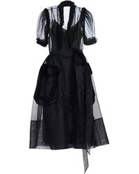 Simone Rocha 3/4 Length Dress - Black
