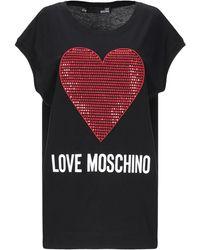 Love Moschino Embellished Printed Cotton-jersey Mini Dress - Black