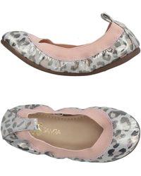 8dad2f7ebf67 Lyst - Yosi Samra  sandrine  Foldabe Ballet Flat in Pink
