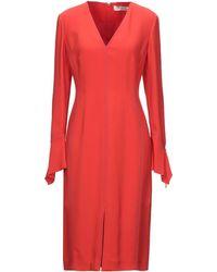 Mantu Midi Dress - Red