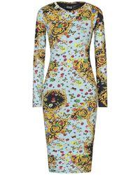 Versace Jeans Couture Robe aux genoux - Bleu