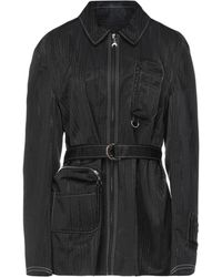 Marine Serre Overcoat - Black