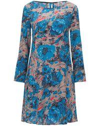Attic And Barn Short Dress - Blue