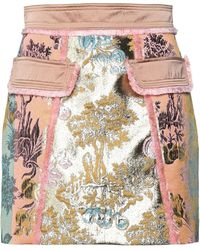 Peter Pilotto Mini Skirt - Metallic