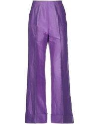 Le Sarte Pettegole Casual Trousers - Purple