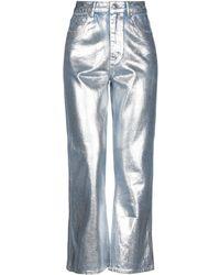 Sandro Denim Trousers - Metallic