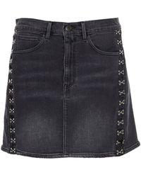 3x1 Denim Skirt - Gray