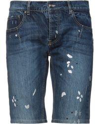 Les Hommes Short en jean - Bleu