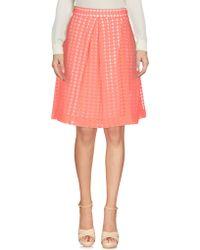 P.A.R.O.S.H. Knee Length Skirts - Pink