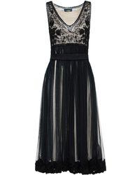 Class Roberto Cavalli 3/4 Length Dress - Black