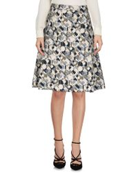 Tres Chic SARTORIAL - Knee Length Skirts - Lyst