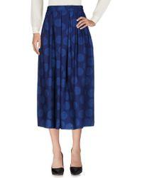 Blue Blue Japan - 3/4 Length Skirt - Lyst