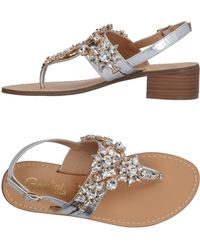 Gardini Toe Strap Sandal - Metallic