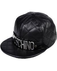 dd21afa4323 Lyst - Moschino Logo Baseball Cap in Black for Men