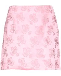 ALEXACHUNG Mini Skirt - Pink
