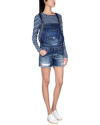 People (+) People Short Dungarees - Blue