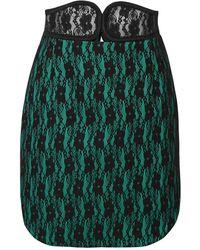 Christopher Kane Mini Skirt - Green