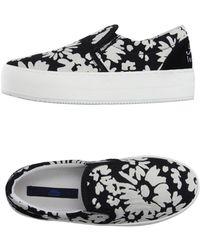 Blue Les Copains Low-tops & Sneakers - Black