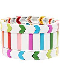 Roxanne Assoulin Fresh Start Set Aus Drei Armbändern Mit Emaille - Weiß