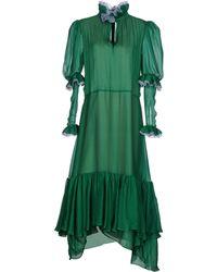 Natasha Zinko 3/4 Length Dress - Green