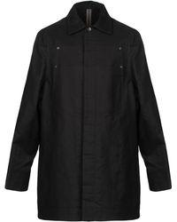 Rick Owens Drkshdw Overcoat - Black