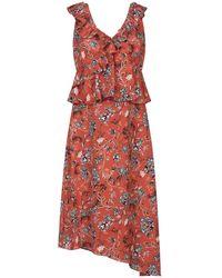 Glamorous Knee-length Dress - Red