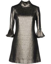 Amen Short Dress - Metallic