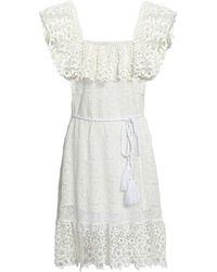 Miguelina Short Dress - White