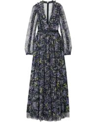 Needle & Thread Robe longue - Noir