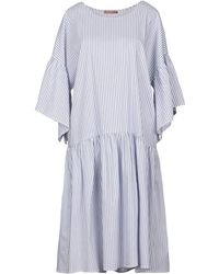 DV ROMA Knielanges Kleid - Blau