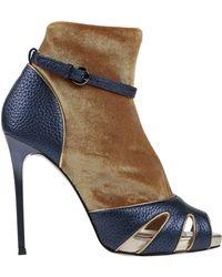 Frankie Morello Ankle Boots - Metallic