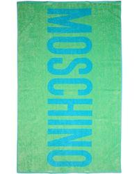 Moschino Serviette de plage - Bleu