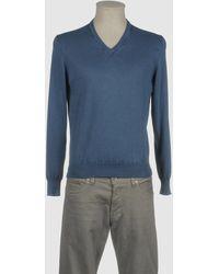 Drumohr Pullover mit V-Ausschnitt - Blau