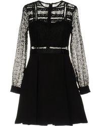NJ COUTURE Short Dress - Black