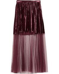 Relish Long Skirt - Purple