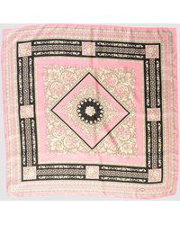 Versace Square Scarf - Pink